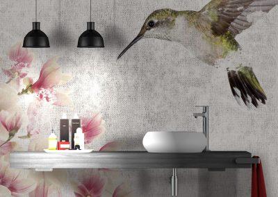 Minimalist concrete bathroom