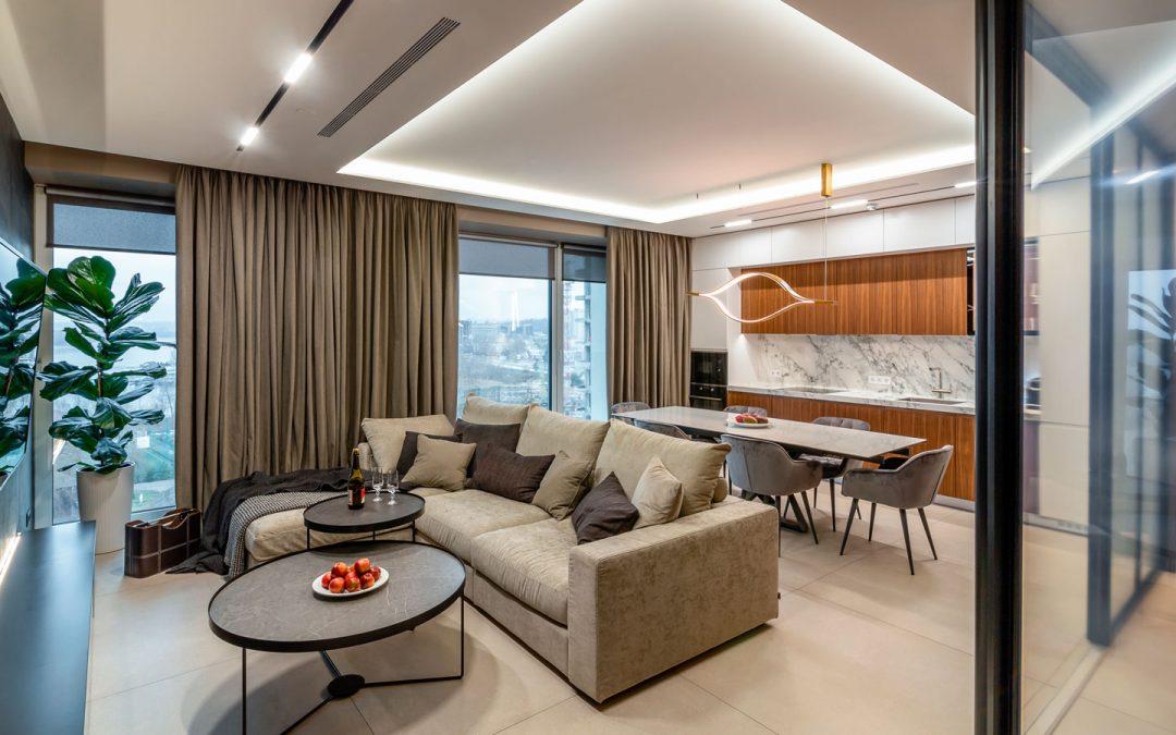 Un appartamento retro-futuristico